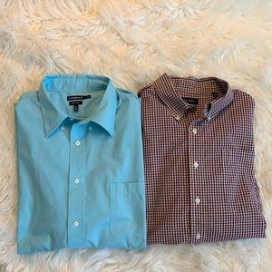 Bundle Men's Button Down Shirts 18 34/35